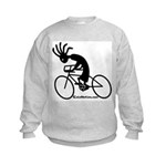 Kokopelli Road Cyclist Kids Sweatshirt