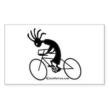Kokopelli Road Cyclist Rectangle Sticker
