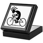 Kokopelli Road Cyclist Keepsake Box