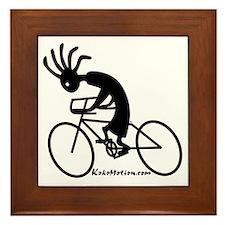 Kokopelli Road Cyclist Framed Tile