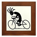 Kokopelli Road Cyclist Framed Tile