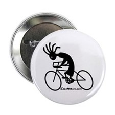 Kokopelli Road Cyclist Button