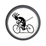Kokopelli Road Cyclist Wall Clock