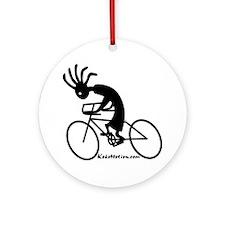 Kokopelli Road Cyclist Ornament (Round)