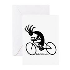 Kokopelli Road Cyclist Greeting Cards (Package of