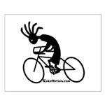 Kokopelli Road Cyclist Small Poster