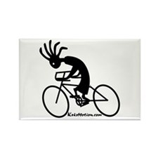 Kokopelli Road Cyclist Rectangle Magnet