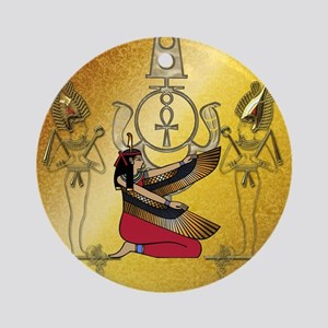 Isis the egyptian god Round Ornament