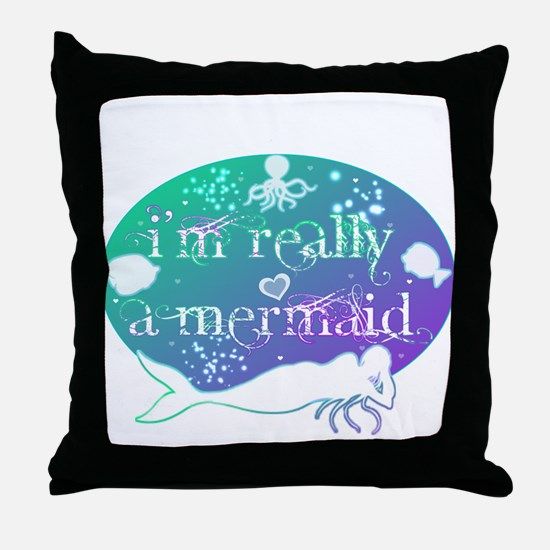 lg really a mermaid.png Throw Pillow