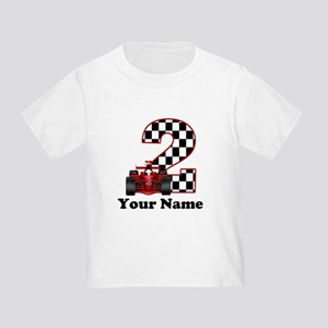 2nd Birthday Race Car Toddler T Shirt