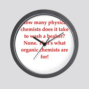 chemistry joke Wall Clock
