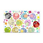 Cute cartoon owls and colorful flowers pattern Rec