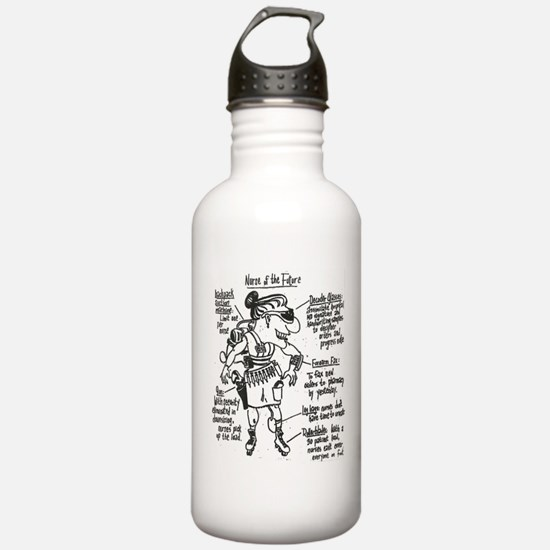 Nurse Of The Future Water Bottle
