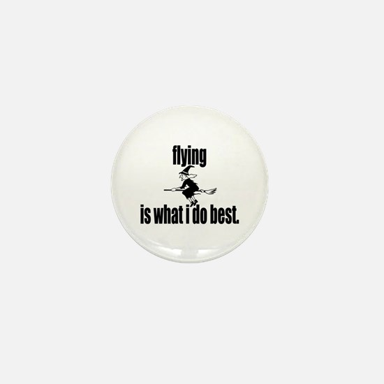 Flyin' Witch Mini Button