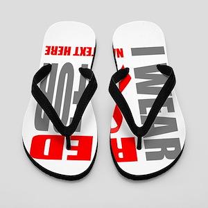 Red Awareness Ribbon Customized Flip Flops
