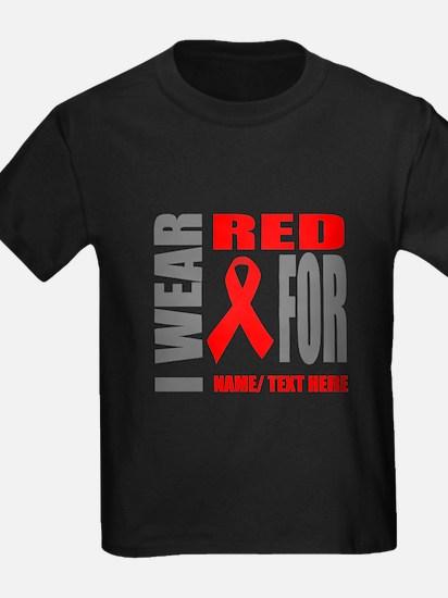 Red Awareness Ribbon Customized T