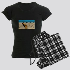 Diesel Train High Angle Retro Women's Dark Pajamas