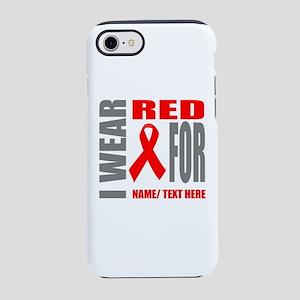 Red Awareness Ribbon Customize iPhone 7 Tough Case