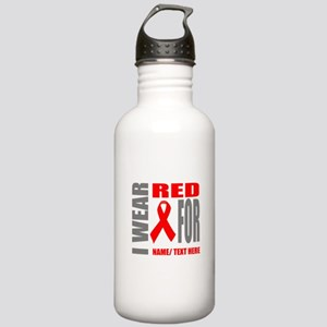 Red Awareness Ribbon C Stainless Water Bottle 1.0L