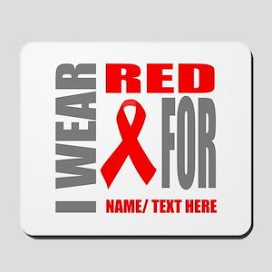 Red Awareness Ribbon Customized Mousepad