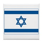 Israel Flag Tile Coaster