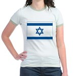 Israel Flag Jr. Ringer T-Shirt