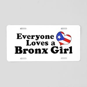 Puerto Rican Bronx Girl Aluminum License Plate