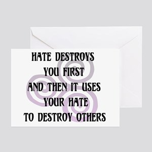 Hate Destroys You Greeting Cards (Pk of 10)