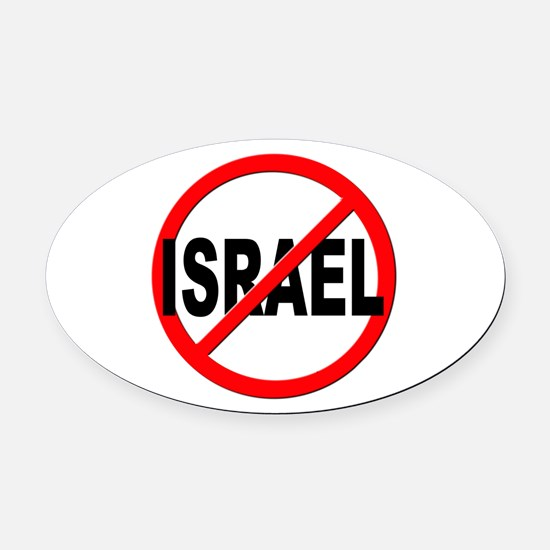 Anti / No Israel Oval Car Magnet