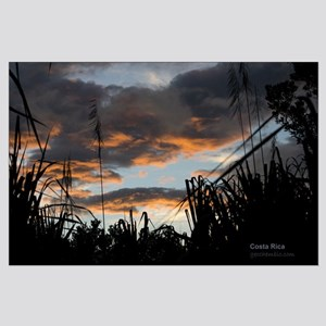 Costa Rica fields Large Poster
