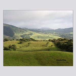 Costa Rica fields Small Poster