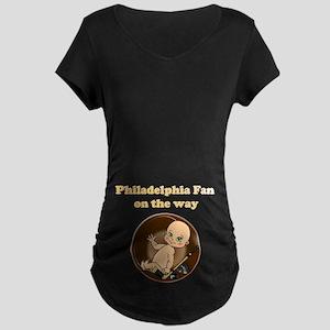 Philadelphia Fan on the way Maternity Dark T-Shirt