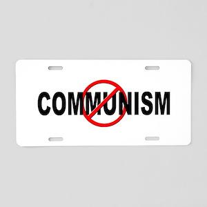 Anti / No Communism Aluminum License Plate