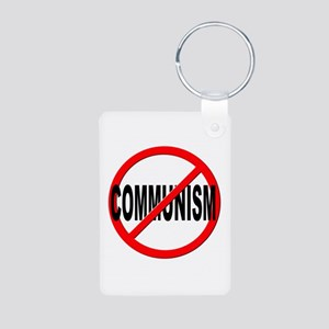 Anti / No Communism Aluminum Photo Keychain