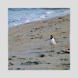Seagull on Beach Queen Duvet