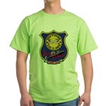 USS LEWIS AND CLARK Green T-Shirt