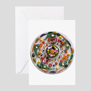 Fruit & Veggie Mandala Greeting Card