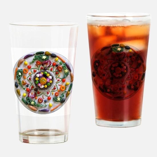 Fruit & Veggie Mandala Drinking Glass