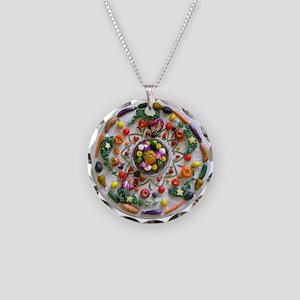 Fruit & Veggie Mandala Necklace Circle Charm