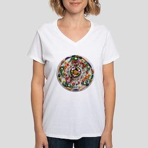 Fruit & Veggie Mandala Women's V-Neck T-Shirt