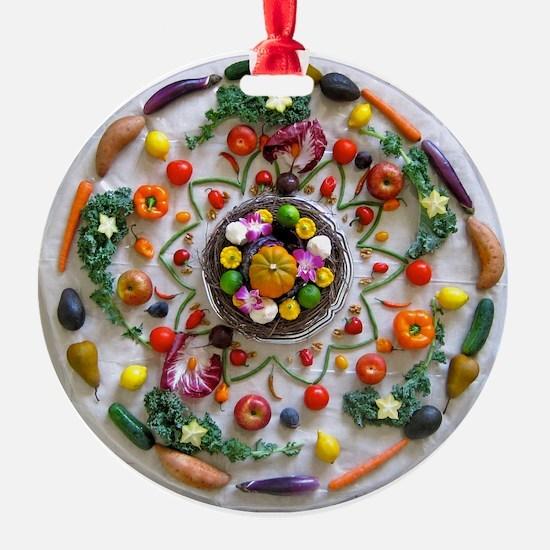 Fruit & Veggie Mandala Ornament