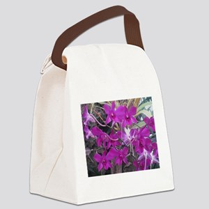 purple orchid cluster Canvas Lunch Bag