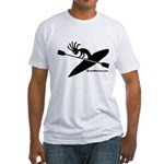 Kokopelli Kayaker Fitted T-Shirt