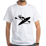 Kokopelli Kayaker White T-Shirt