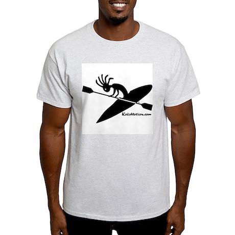 Kokopelli Kayaker Ash Grey T-Shirt