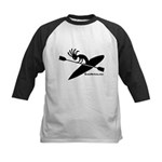 Kokopelli Kayaker Kids Baseball Jersey