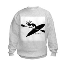 Kokopelli Kayaker Kids Sweatshirt