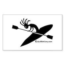 Kokopelli Kayaker Rectangle Sticker
