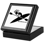 Kokopelli Kayaker Keepsake Box