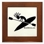 Kokopelli Kayaker Framed Tile